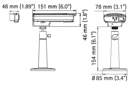 AXIS P1346 Mpix - Kamery kompaktowe IP
