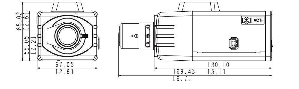 ACTi D21 z obiektywem zmiennoogniskowym - Kamery kompaktowe IP