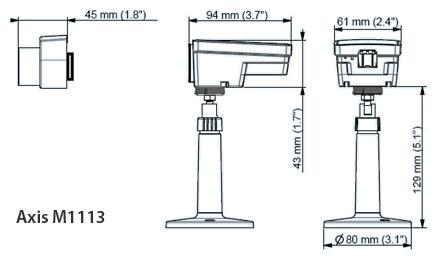 AXIS M1113 - Kamery kompaktowe IP