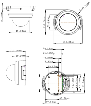 GV-FD220D Mpix - Kamery kopułkowe IP